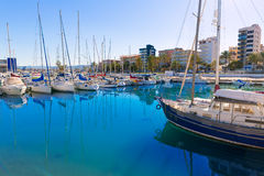 Gandia Nautico Marina boats in Mediterranean Spain Royalty Free Stock Photos