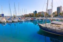 Gandia Nautico Marina boats in Mediterranean Spain Royalty Free Stock Photos