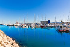 Gandia Nautico Marina boats in Mediterranean Spain Stock Photo