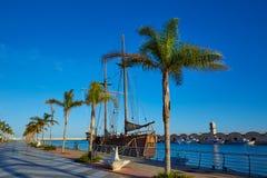 Gandia port promenade Mediterranean Valencia Stock Image