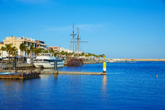 Gandia port promenade Mediterranean Valencia Stock Photography