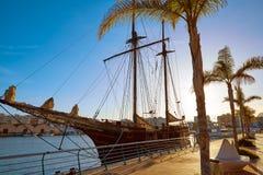 Gandia port promenade Mediterranean Valencia Royalty Free Stock Images