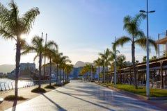 Gandia port promenade Mediterranean Valencia Stock Photos