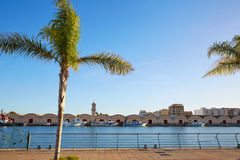 Gandia port promenade Mediterranean Valencia Royalty Free Stock Image