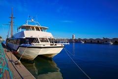 Gandia port promenade Mediterranean Valencia Stock Images