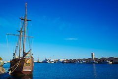 Gandia port promenade Mediterranean Valencia Royalty Free Stock Photo