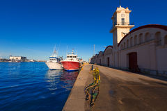 Gandia port puerto Valencia in Mediterranean Spain Stock Image