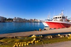 Gandia port puerto Valencia in Mediterranean Spain Stock Images