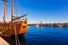 Gandia port puerto Valencia in Mediterranean Spain Royalty Free Stock Photo