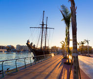 Gandia port puerto Valencia in Mediterranean Spain Royalty Free Stock Photography