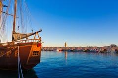 Gandia port puerto Valencia in Mediterranean Spain Royalty Free Stock Images