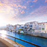 Gandia port Valencia sunset Mediterranean Spain Royalty Free Stock Photo