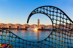 Gandia portpuerto Valencia i medelhavs- Spanien arkivfoton