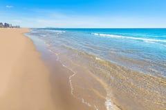 Gandia strand i Valencia Mediterranean Spain royaltyfria bilder
