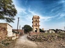 Gandikotta村庄Charminar站立到达对天空 免版税库存图片