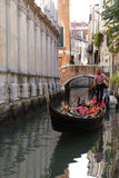 Gandoler gondola on the canals in Venice, Italy Stock Images