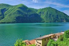 Gandria, Jeziornego Lugano, Ticino kanton, Szwajcaria fotografia royalty free