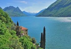 Gandria, lac canton de Lugano, Tessin, Suisse Image libre de droits