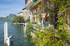 Gandria,Lake Lugano,Ticino,Switzerland Stock Photo