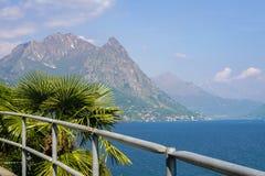 Gandria in Zwitserland Stock Foto