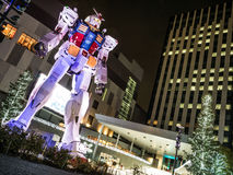 Gandum在Odaiba晚上 免版税图库摄影