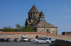 Gandzasar修道院老中世纪亚美尼亚教会  库存照片