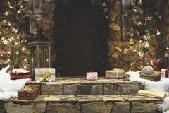 Ganeczka dom dekorujący dla zim bożych narodzeń wakacji Fotografia Stock