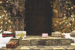 Ganeczka dom dekorujący dla zim bożych narodzeń wakacji Zdjęcie Stock