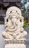 Ganeha雕象在巴厘岛,印度尼西亚 库存照片