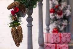 Ganek frontowy dekorujący dla wakacji Fotografia Royalty Free