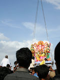 Ganesh浸没印度节日 库存图片