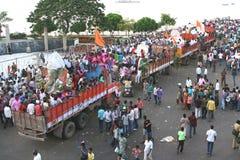 Ganesh浸没印度节日 图库摄影