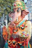 Ganesh雕象,伦敦,英国 2016年10月16日, Dewali执行者和场面伦敦节日的市长在特拉法加广场 免版税图库摄影