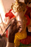 Ganesh #2. Ganesh idol is being painted Stock Image