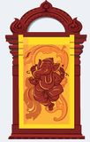 Ganesh. Images of Ganesh curved out of wood royalty free illustration