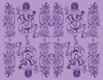 Ganesh background. Violet background with Indian god Ganesh Stock Photos