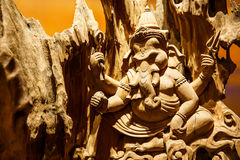 Ganesh carved wood Royalty Free Stock Image