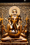 Ganesh carved wood Stock Image