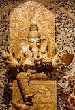 Ganesh carved wood Stock Photo