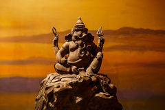 Ganesh carved wood Royalty Free Stock Photo