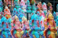 Ganesh chaturthi节日在海得拉巴,印度 免版税库存图片