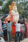 Ganesh chaturthi节日在海得拉巴,印度 免版税库存照片