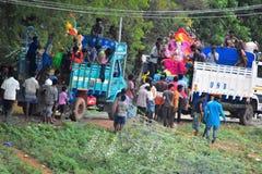 Anaipatti, Tamilnadu - India - September 15 2018: Ganesha Visarjan Royalty Free Stock Image