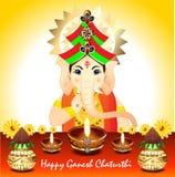 Ganesh Chaturthi Background abstrait Photographie stock libre de droits