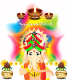 Ganesh chaturthi colorful vector background. Ganesha chaturthi colorful vector background illustration stock illustration