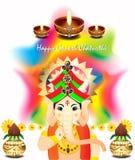 Ganesh chaturthi colorful vector background Stock Photo
