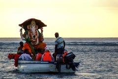 Ganesh Chaturthi, el Océano Índico Fotografía de archivo libre de regalías