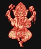Ganesh Chaturthi feliz Ejemplo del vector del señor hindú Foto de archivo libre de regalías
