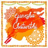 Ganesh chaturthi festiwal ilustracja wektor