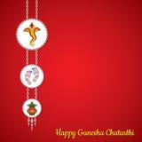 Ganesh Chaturthi hälsningkort Arkivfoton